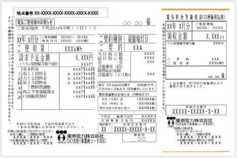 東京電力検針票