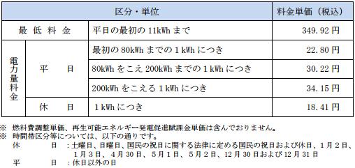 四国電力ホリデーeプラン
