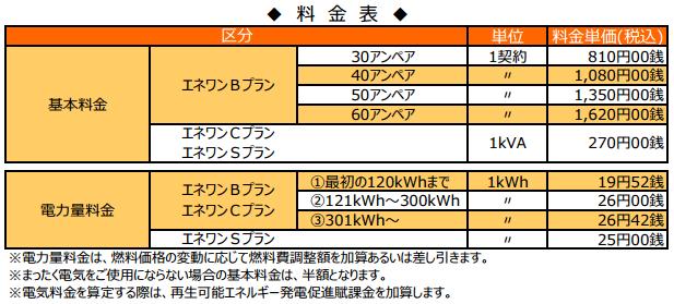 エネワン東京電力