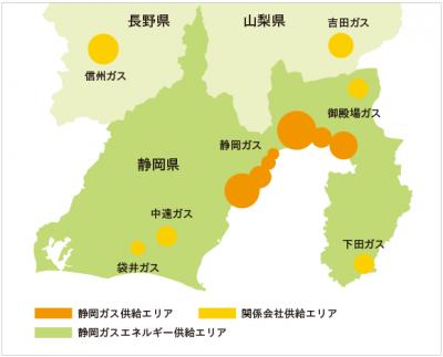 静岡ガス供給エリア